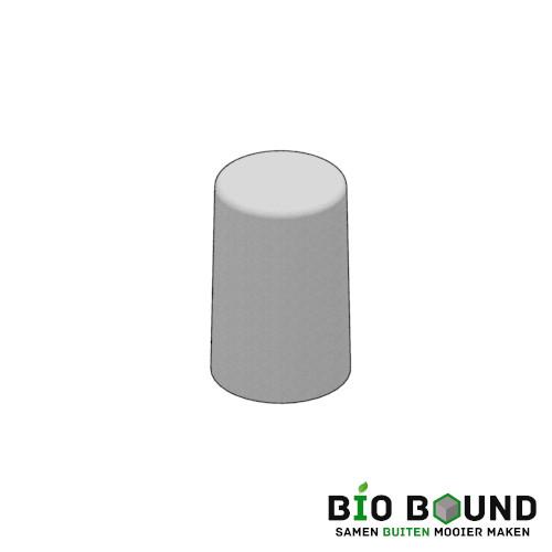Circulaire biobased sierpoef rond 30 duurzaam beton