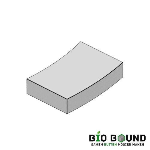 circulaire biobased bochttreden 50x15 cm - duurzaam beton