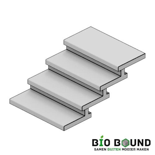 circulaire biobased taludtreden 50x7-16 cm - duurzaam beton