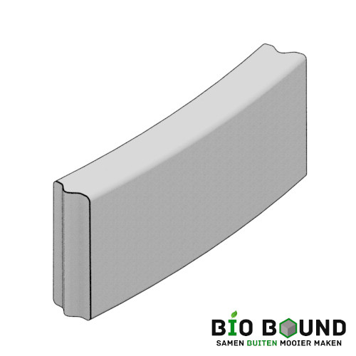 circulaire biobased bloembakbochtbanden 15x40 cm - duurzaam beton