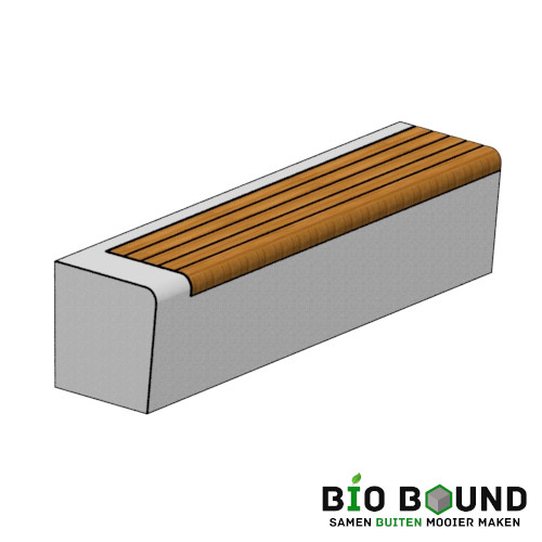 duurzame betonnen banken zitrand biobased circulair Elegance basis met zitting