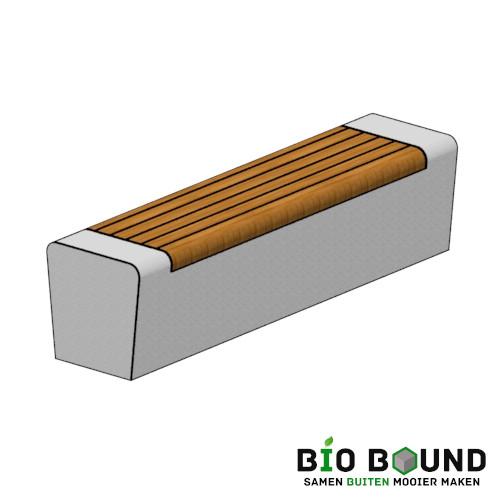 duurzame betonnen banken zitrand biobased circulair Elegance tweezijdig met zitting solo