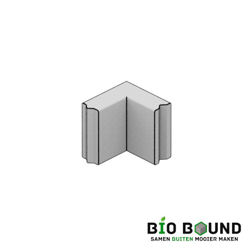 duurzaam beton bloembakband hoekstuk 15x40 cm circulair en biobased