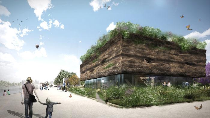 Bio Bound betonvloeren voor Food Forum Floriade Almere