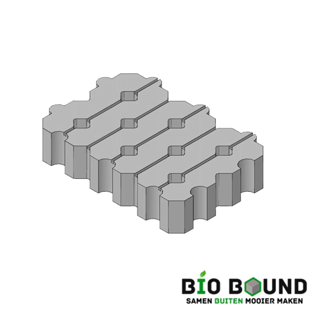 Circulaire, biobased grasbetontegels koepadblokken