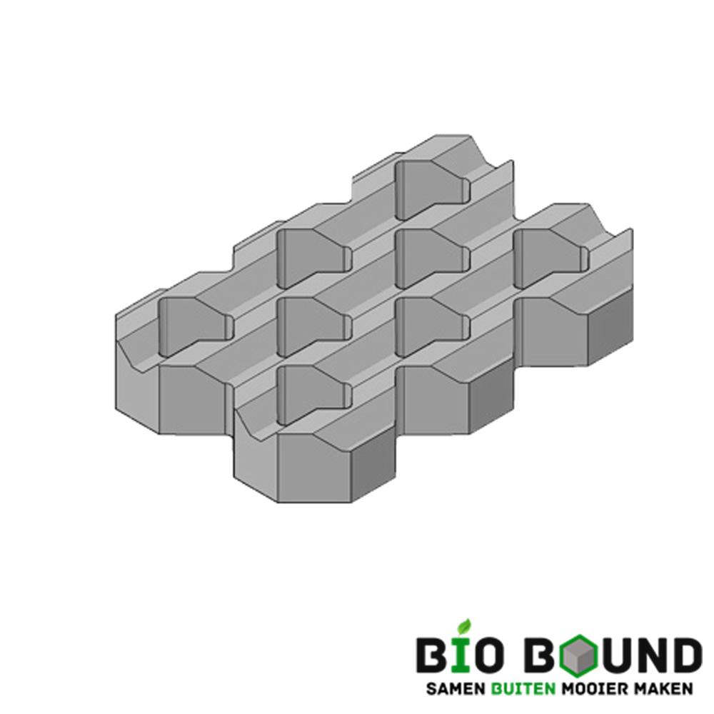 Circulaire, biobased grasbetontegels type A