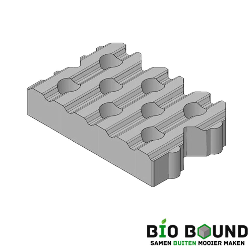 Circulaire, biobased grasbetontegels type B