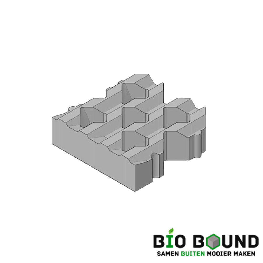 Circulaire, biobased grasbetontegels type C