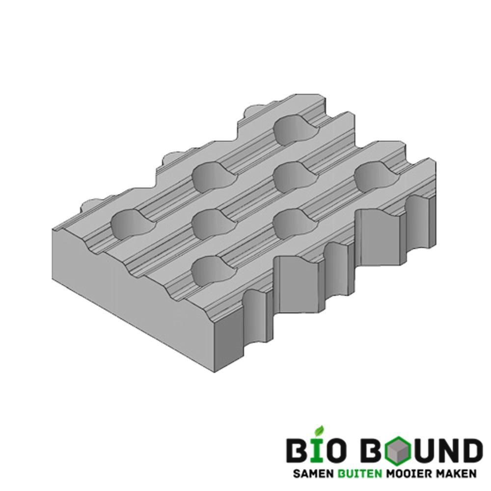 Circulaire, biobased grasbetontegels type D
