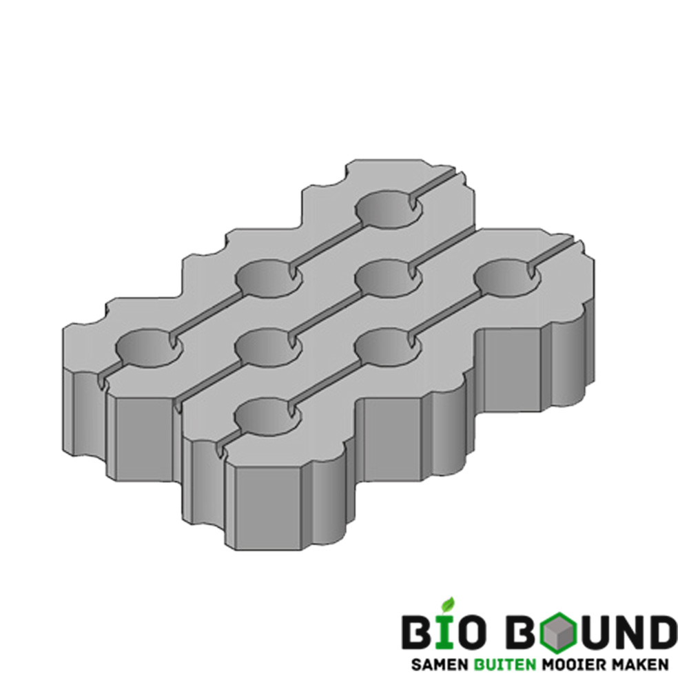 Circulaire, biobased grasbetontegels type I