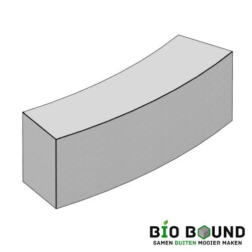 Parkband bloembak bochtband biobased circulair beton - duurzaam beton