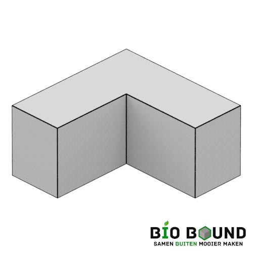Parkband bloembakband 40 x 50 cm hoek biobased circulair beton - duurzaam beton