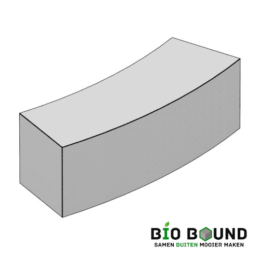 circulaire, biobased parkband bloembak bochtband 50 x 50 cm