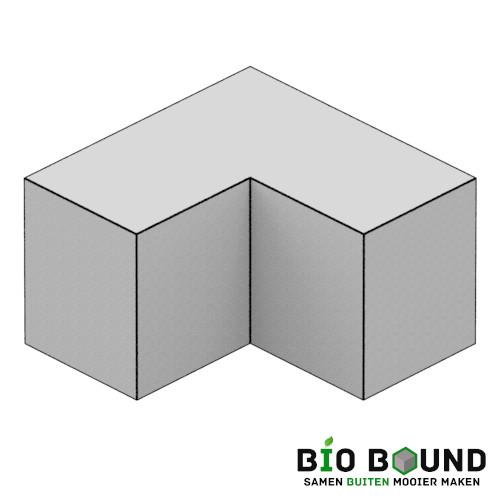 circulaire, biobased parkband bloembakband hoekstuk 50 x 60 cm