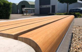 parkbandzitrand Elegance basis solo met houten zitting biobased circulair