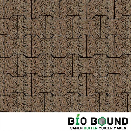 Circulaire, biobased H-verbandsteen watergestraald sevilla terra