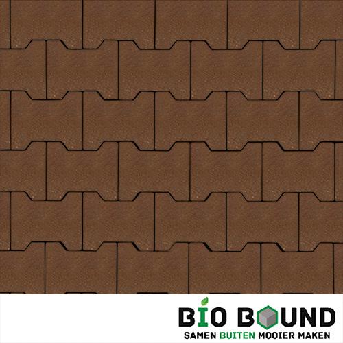 Circulaire, biobased H-verbandstenen bruin