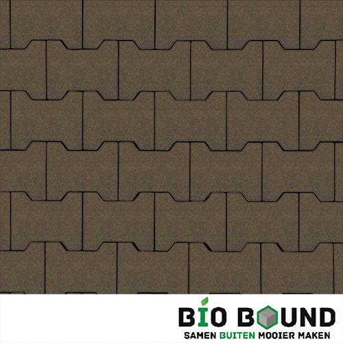 Circulaire, biobased H-verbandstenen hardsteenkleur