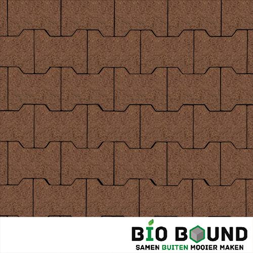 Circulaire, biobased H-verbandstenen structuur oud bruin