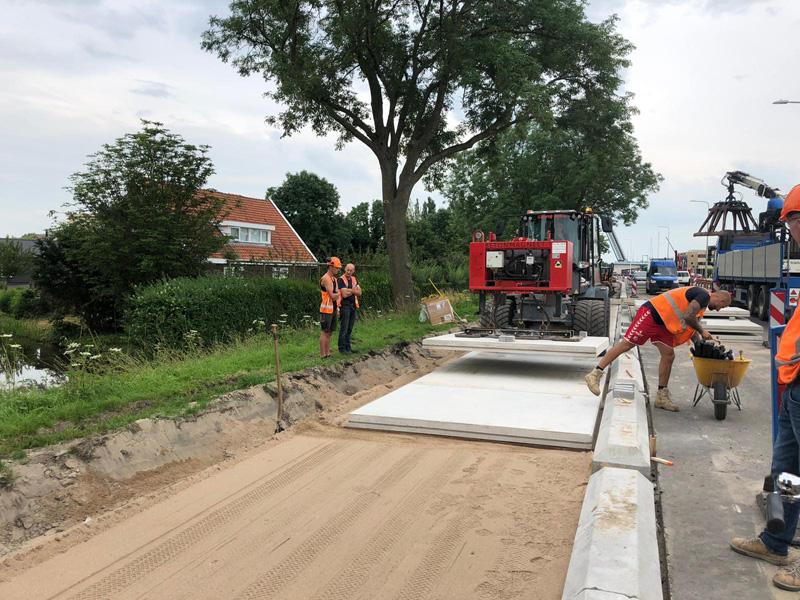 Provincie Zuid-Holland kiest maximaal duurzame betonnen fietspadplaten